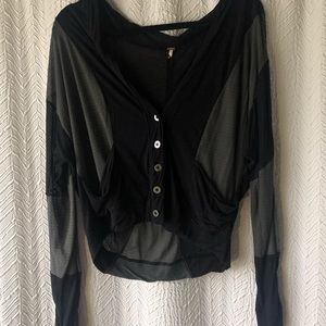 free people long sleeve button up